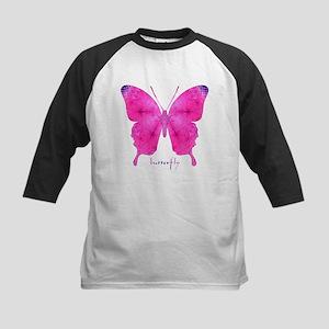 Dazzled Butterfly Kids Baseball Jersey