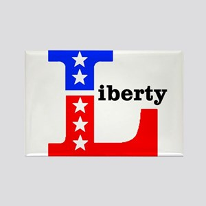 Liberty (Black Lettering) Rectangle Magnet