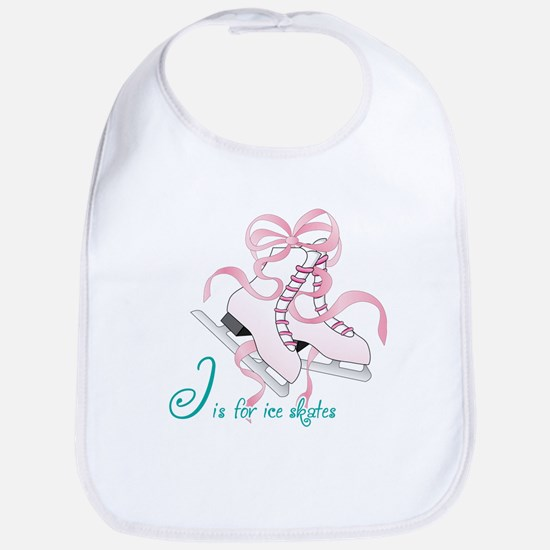 I is for Ice Skates Bib