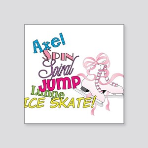 "Ice Skating Square Sticker 3"" x 3"""