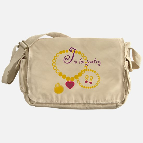 J is for Jewelry Messenger Bag