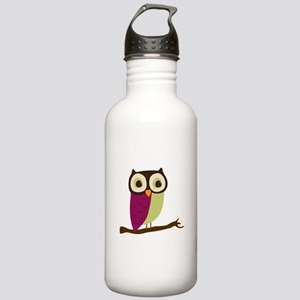 Retro Chic Owl Stainless Water Bottle 1.0L