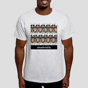 Tri Color Smooth Collies Ash Grey T-Shirt