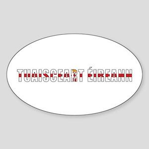 Northern Ireland (Irish) Oval Sticker