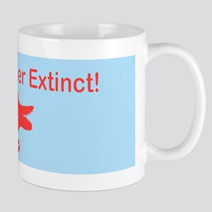 Make Cancer Extinct Blue Dinosaur Designer Mug