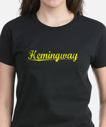 Hemingway, Yellow Women's Dark T-Shirt