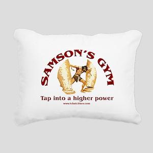 Samson's Gym Higher Power Rectangular Canvas Pillo