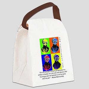 rambamwarhol2 Canvas Lunch Bag