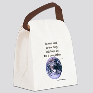 The World Stands on 3 Things Canvas Lunch Bag