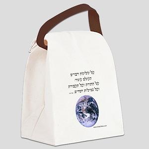 ThreeThingsHeb Canvas Lunch Bag