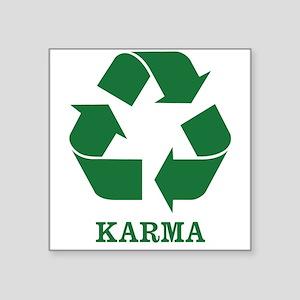 "Karma Square Sticker 3"" x 3"""