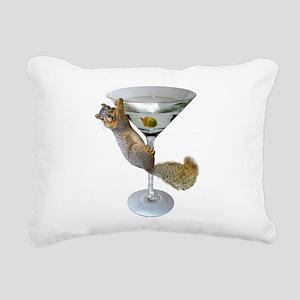 Martini Squirrel Rectangular Canvas Pillow