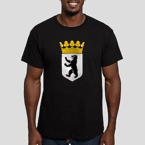Berlin Coat of Arms Men's Fitted T-Shirt (dark)