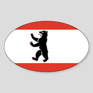 Flag of Berlin Sticker (Oval)