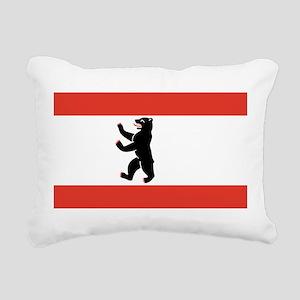 Flag of Berlin Rectangular Canvas Pillow