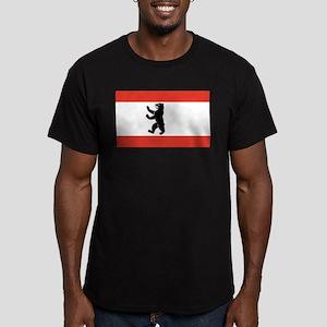 Flag of Berlin Men's Fitted T-Shirt (dark)