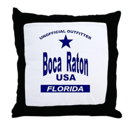 Boca Raton Throw Pillow