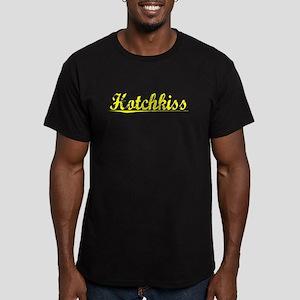 Hotchkiss, Yellow Men's Fitted T-Shirt (dark)