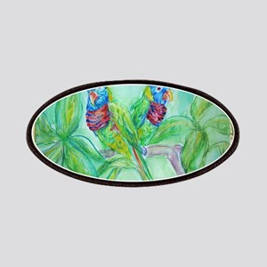 Lorikeets! Colorful bird art! Patches
