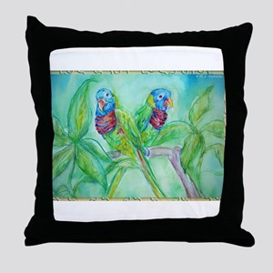 Lorikeets! Colorful bird art! Throw Pillow
