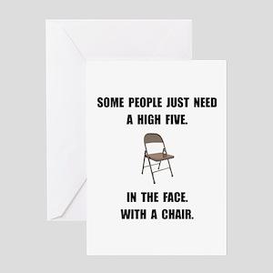 High Five Chair Greeting Card