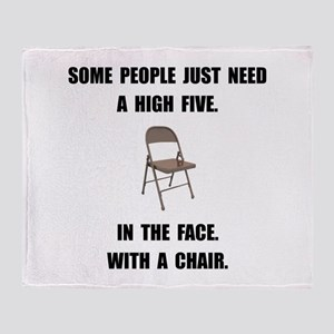 High Five Chair Throw Blanket