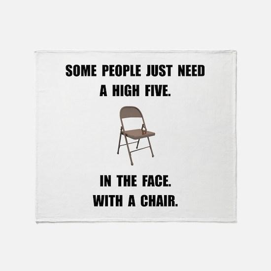 High Five Chair Throw Blanket