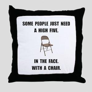 High Five Chair Throw Pillow