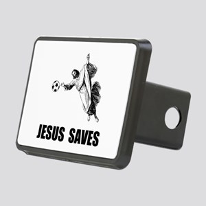 Jesus Saves Soccer Rectangular Hitch Cover