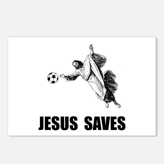 Jesus Saves Soccer Postcards (Package of 8)