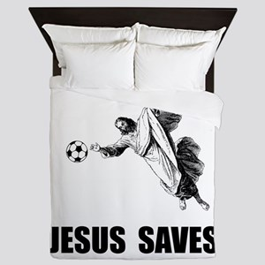 Jesus Saves Soccer Queen Duvet