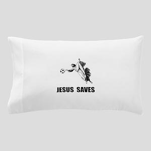 Jesus Saves Soccer Pillow Case