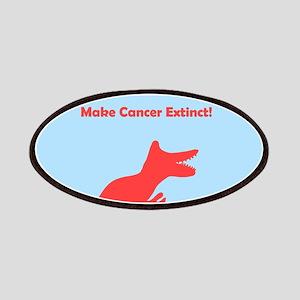 Make Cancer Extinct Pink Blue Dinosaur Patches