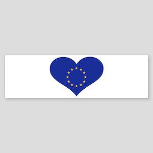 Europe EU flag heart Sticker (Bumper)