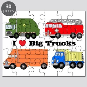 I Heart Big Trucks Puzzle