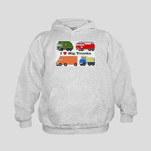 I Heart Big Trucks Kids Hoodie
