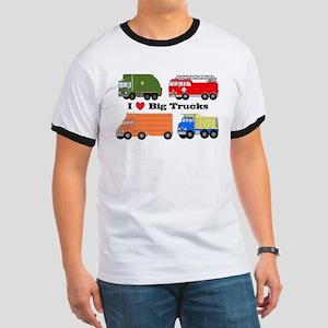 I Heart Big Trucks Ringer T