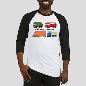 I Heart Big Trucks Baseball Jersey