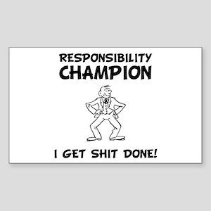 Responsibility Champion Sticker (Rectangle 10 pk)