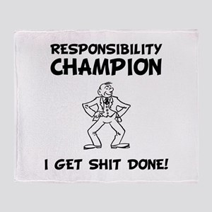 Responsibility Champion Throw Blanket