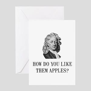 Sir Isaac Newton Apple Greeting Card
