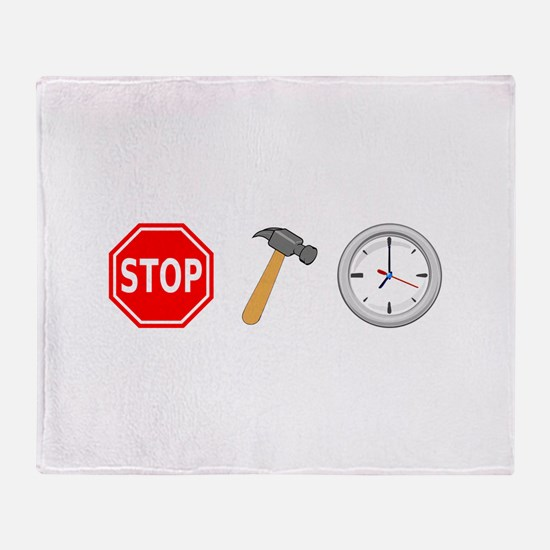 Stop Hammer Time Throw Blanket