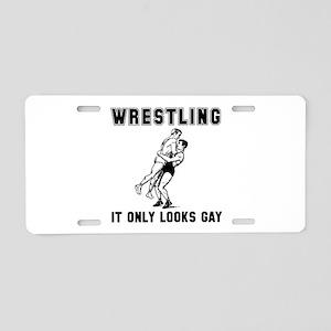 Wrestling Looks Gay Aluminum License Plate