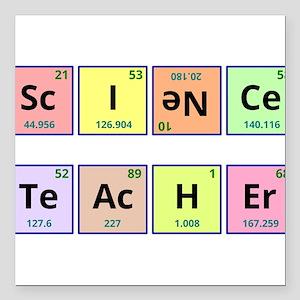 "Science Teacher Square Car Magnet 3"" x 3"""