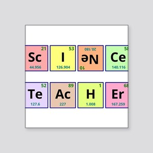 "Science Teacher Square Sticker 3"" x 3"""