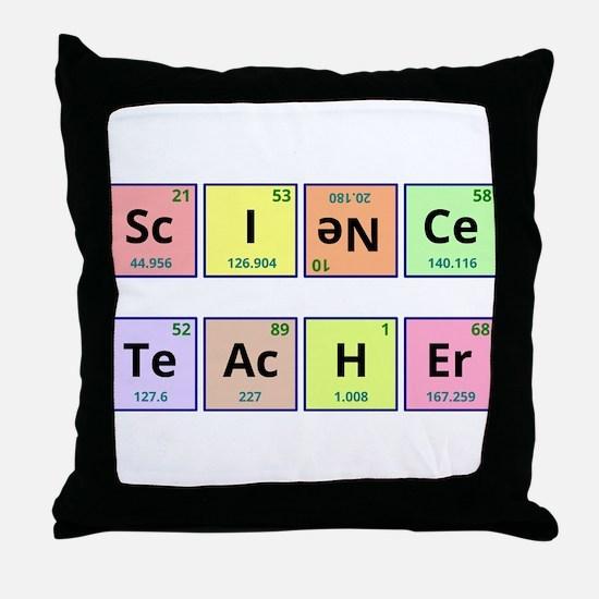 Science Teacher Throw Pillow