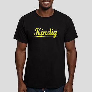 Kindig, Yellow Men's Fitted T-Shirt (dark)