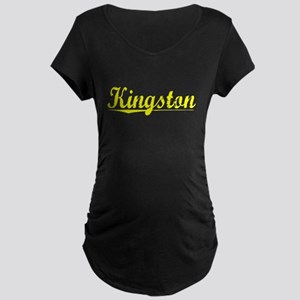 Kingston, Yellow Maternity Dark T-Shirt