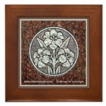 Flowers in Stone Framed Tile