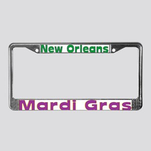 Mardi Gras License Plate Frame